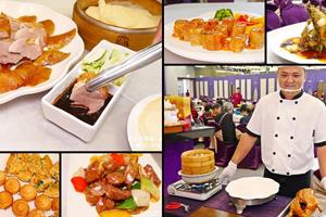 【嘉義·東區】新北平婚宴餐廳|切的過程中,那鴨肉的肉汁就像湧泉一樣,一直湧出來,皮還是一樣脆!