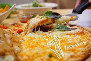 【台中·南屯區】喬e歐爸爸|創意披薩種類多達三十幾種,假日或晚餐時段來還常常會有隱藏版口味的披薩!