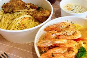 【台中‧西屯】春三朝午|料多又實在的義大利麵,蝦子也剝好殼,CP值真的很高!!